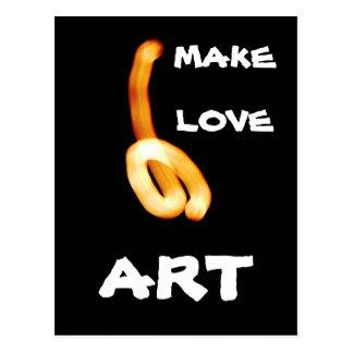 The Make Love Art Postcard