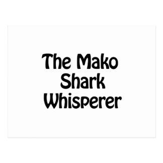 the mako shark whisperer postcard