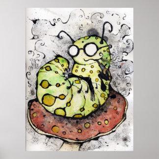 The Mako Vaping Caterpillar Poster
