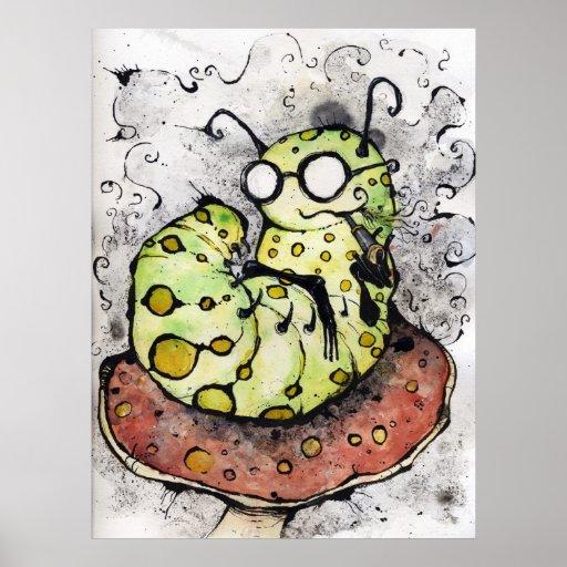 The Mako Vaping Caterpillar Posters