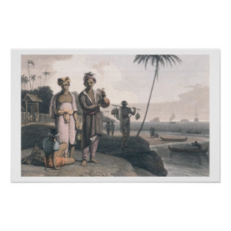 The Malays of Java, engraved by the artists, pub. Poster