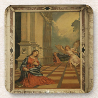 The Malchiostro Annunciation, c.1520 (oil on panel Drink Coaster