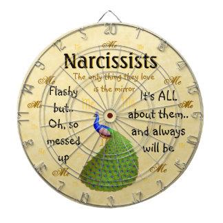 The Malignant Narcissism Customizable Dart Board
