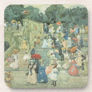 The Mall, Central Park by Maurice Prendergast Beverage Coaster