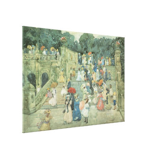 The Mall, Central Park by Maurice Prendergast Canvas Print