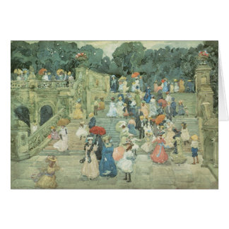 The Mall, Central Park by Maurice Prendergast Card