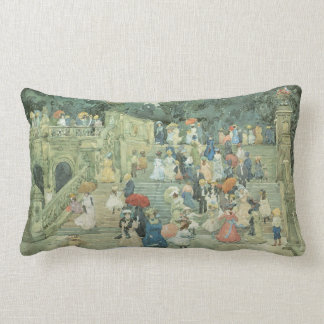 The Mall, Central Park by Maurice Prendergast Lumbar Pillow