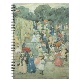 The Mall, Central Park by Maurice Prendergast Notebook