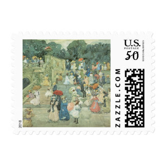 The Mall, Central Park by Maurice Prendergast Postage