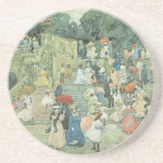 The Mall, Central Park by Maurice Prendergast Sandstone Coaster