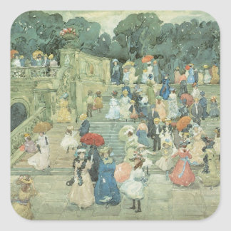 The Mall, Central Park by Maurice Prendergast Square Sticker