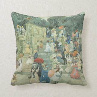 The Mall, Central Park by Maurice Prendergast Throw Pillow