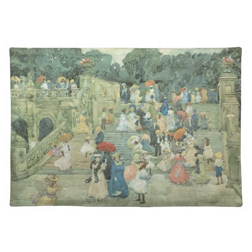 The Mall, Central Park by Prendergast, Vintage Art Placemats