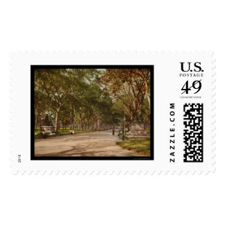 The Mall Central Park NYC 1900 Postage Stamp
