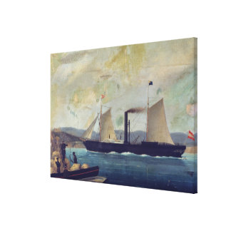 The 'Mallorcan', ship on which George Sand and Cho Canvas Print