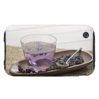 The mallow herb tea which a glass cup contains, tough iPhone 3 cases