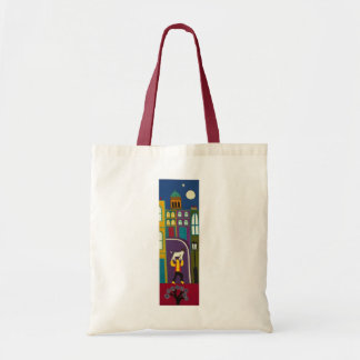 The Man and his dog every day in Portobello Road Budget Tote Bag