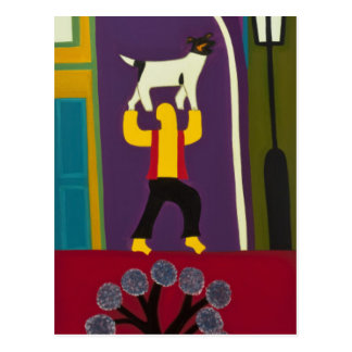 The Man and his dog every day in Portobello Road Postcard