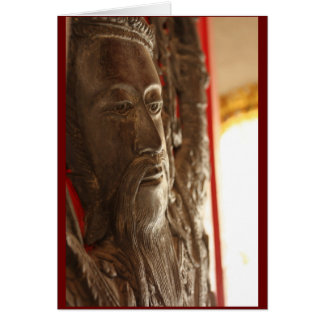 The Man at the Door Greeting Card (red border)