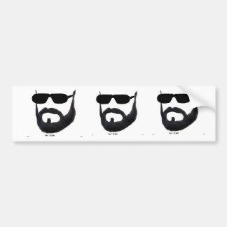 The Man Beard Bumber Sticker by :da'vy Car Bumper Sticker