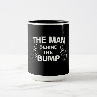 The Man Behind the Bump Two-Tone Coffee Mug