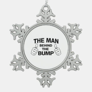 The Man Behind the Bump Snowflake Pewter Christmas Ornament