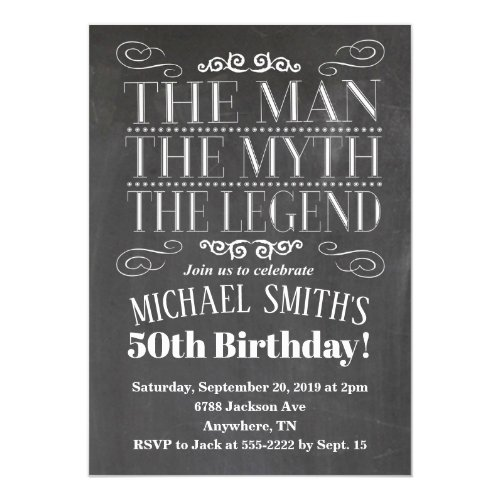 The Man Birthday Invitation