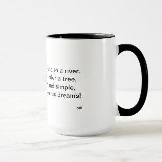 The Man by the River Poem Mug