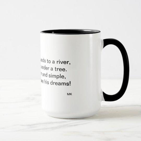 The Man by the River Poem Mug