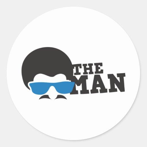 THE MAN CLASSIC ROUND STICKER