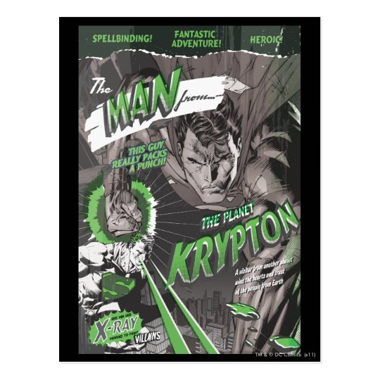 The Man from Krypton Postcard