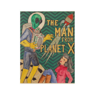 The Man from Planet X Wood Poster