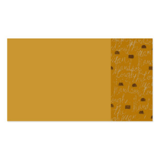 THE MAN HANDSOME DAD FATHER GUY TOUGH BROWNS GOLD BUSINESS CARD TEMPLATES