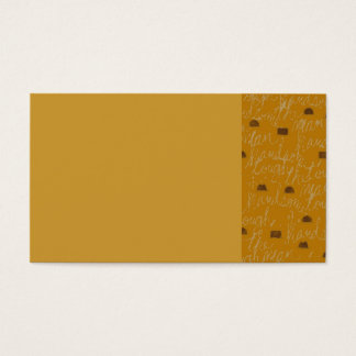 THE MAN HANDSOME DAD FATHER GUY TOUGH BROWNS GOLD BUSINESS CARD
