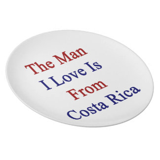 The Man I Love Is From Costa Rica Plate