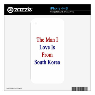 The Man I Love Is From South Korea Skins For iPhone 4