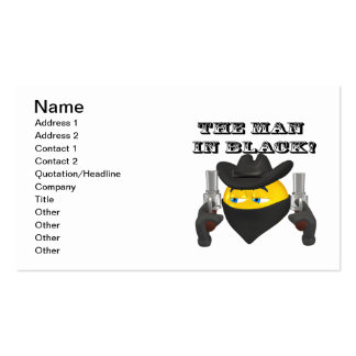 The Man In Black Business Cards