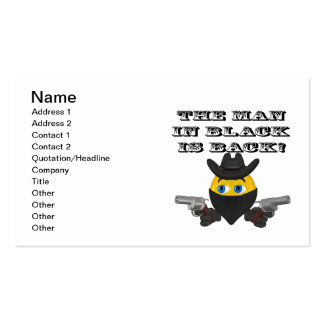 The Man In Black Is Back Business Cards