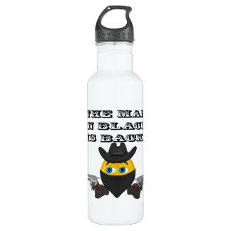 The Man In Black Is Back Stainless Steel Water Bottle