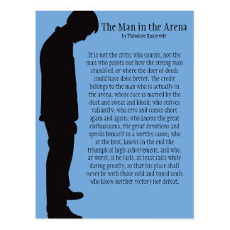 The Man in the Arena Postcard