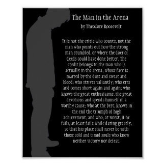 The Man in the Arena Poster