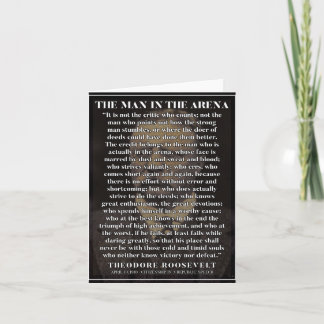 The man in the arena - Powerful motivation card