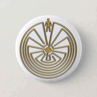 The Man in the Maze - gold Button
