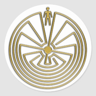 The Man in the Maze - gold Classic Round Sticker