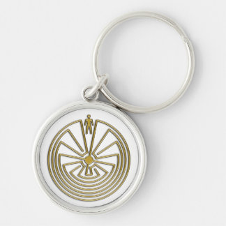 The Man in the Maze - gold Keychain