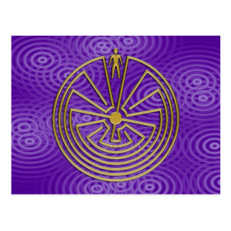 The Man in the Maze - gold Postcard