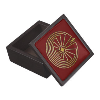 The Man in the Maze - gold Premium Keepsake Boxes