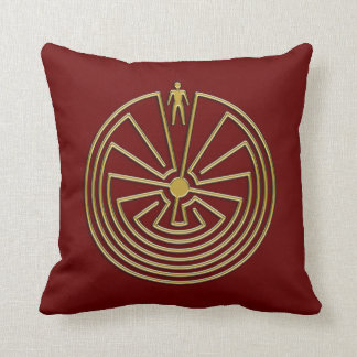 The Man in the Maze - gold Throw Pillow