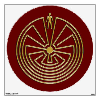 The Man in the Maze - gold Room Decal