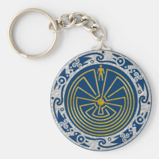 The Man in the Maze - Ornament gold silver Keychain